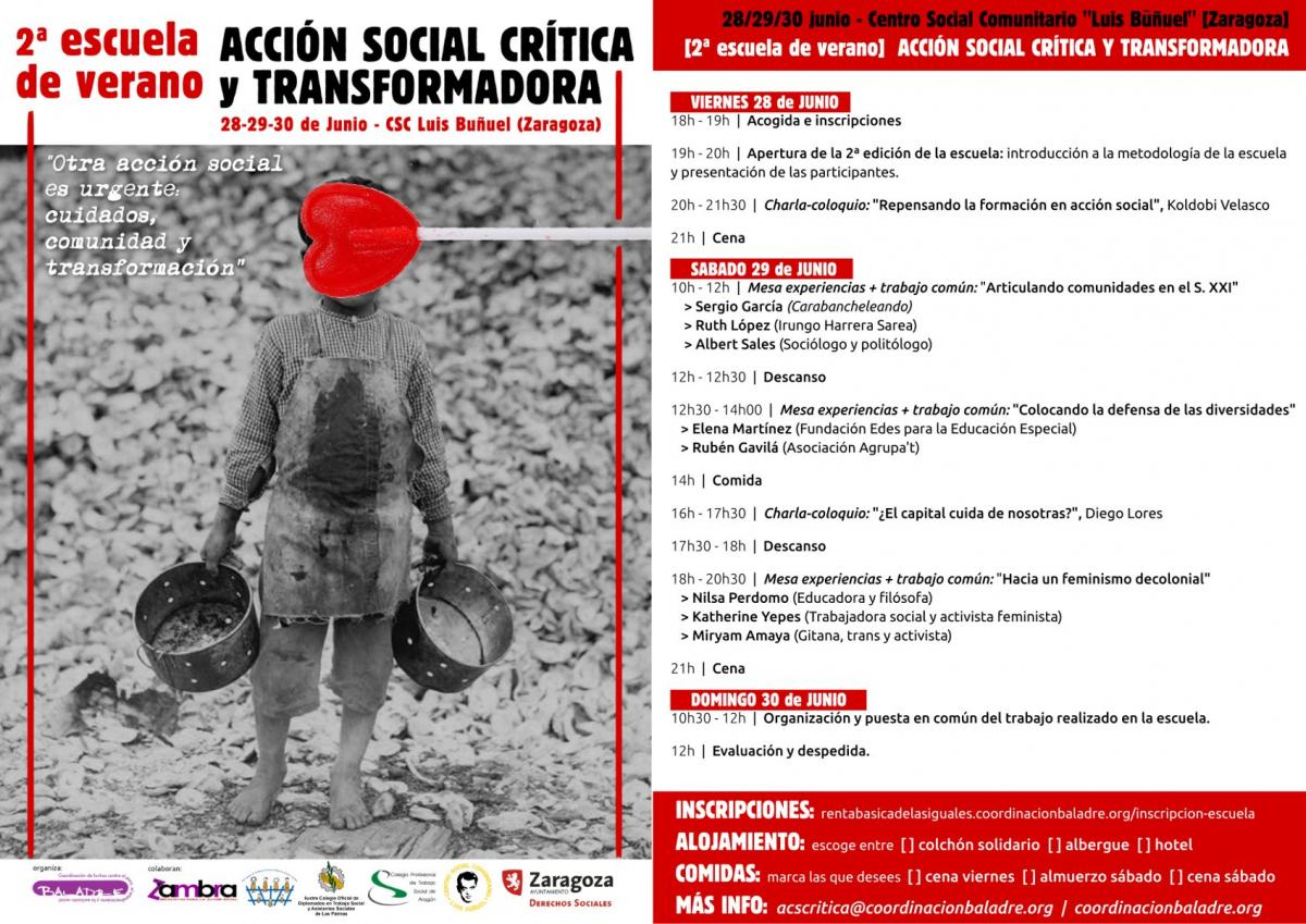 Cartel 2º Escuela de Acción social transformadora